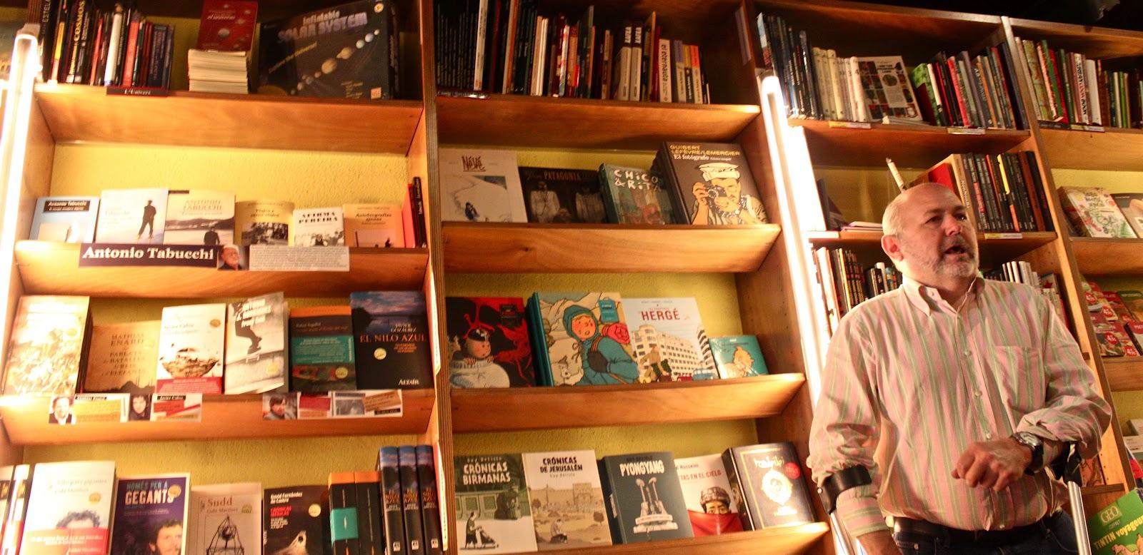 Pep Bernadas en la librería Altair |Fotografía:  Arlene Bayliss