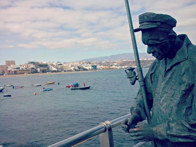 El pescador, la Puntilla en Las Palmas de Gran Canaria.