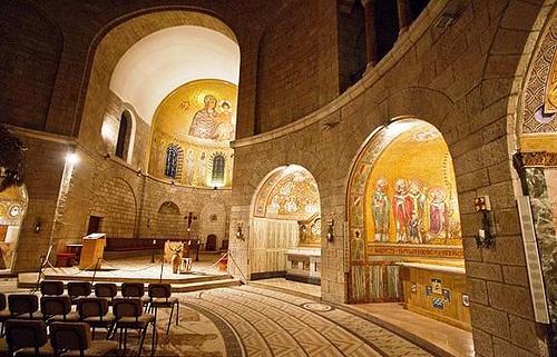 En el Monte Sión está la Abadía de la Dormición de la Virgen María.  Fotografía: www.forodelavirgen.org