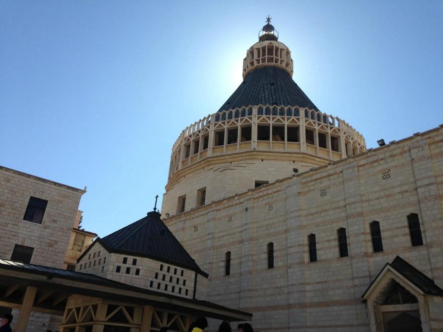 Basílica de la Anunciación en la ciudad de Nazaret, al norte de Israel.  Fotografía: Jaime González