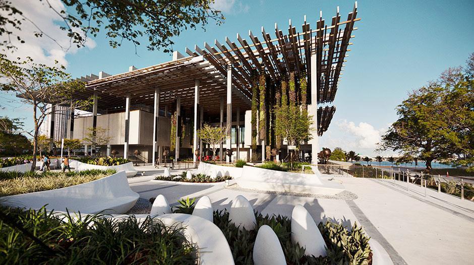 El espacio y las formas del Pérez Art Museum Miami. Fotografía: PAMM