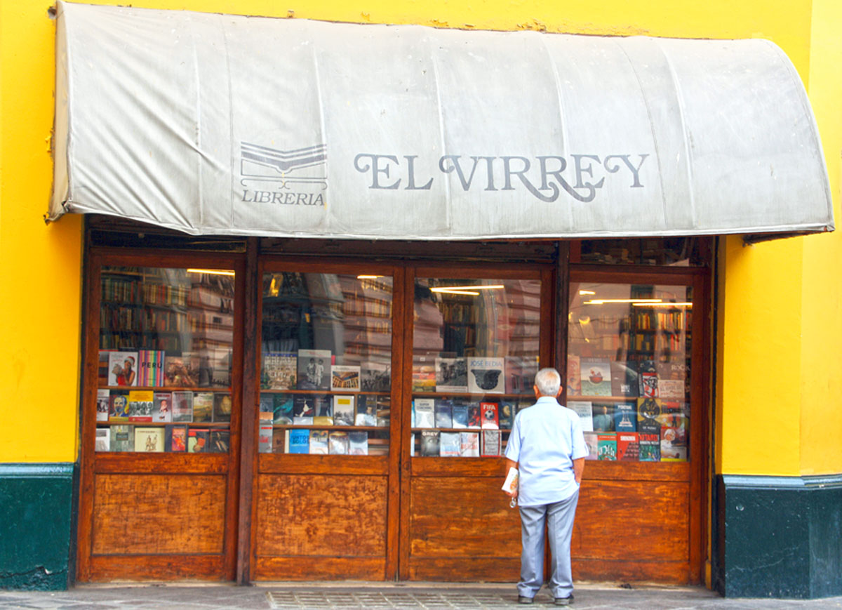 Librería el Virrey, en la capital de Perú, Lima. |Fotografía: José Alejandro Adamuz