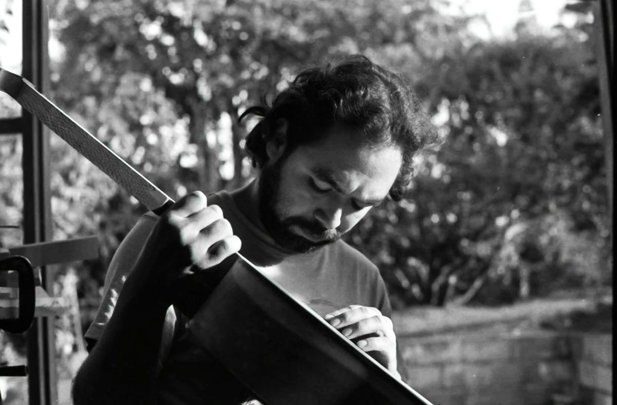 Sergio García en su taller.  Fotografía: Diego Sánchez