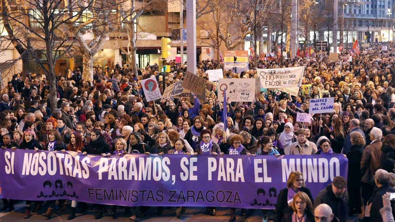Huelga Feminista Zaragoza, España