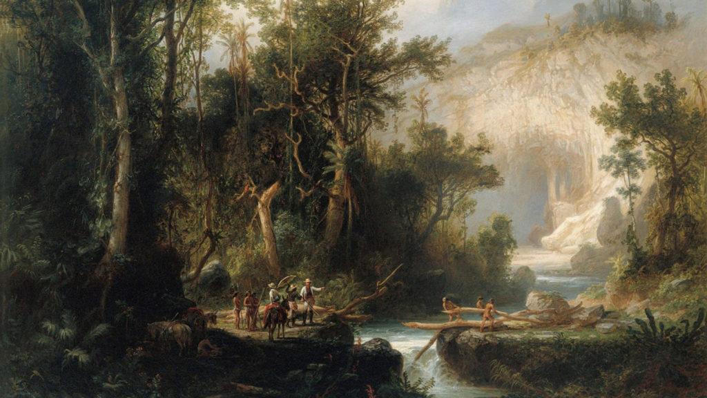 Cueva del Guácharo (1874) por Ferdinand Bellermann