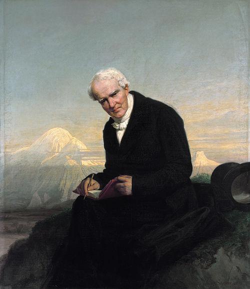 El último retrato de Alexander von Humboldt de Julius Schrader (1859). A los pies del Chimborazo.