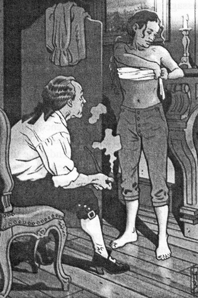 Jeanne Baret en una ilustración de Marc Bourgne