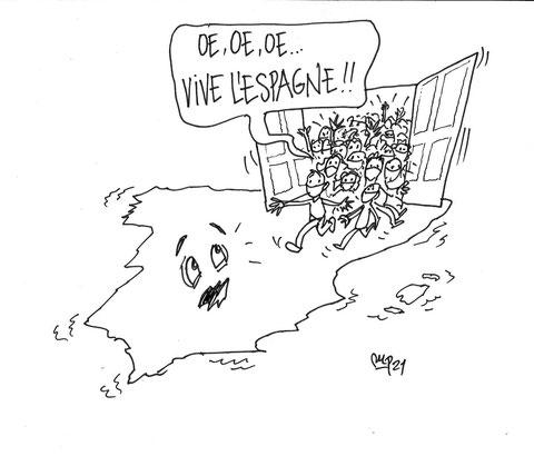 Viñetas de Miguel Porres sobre el turismo en pandemia